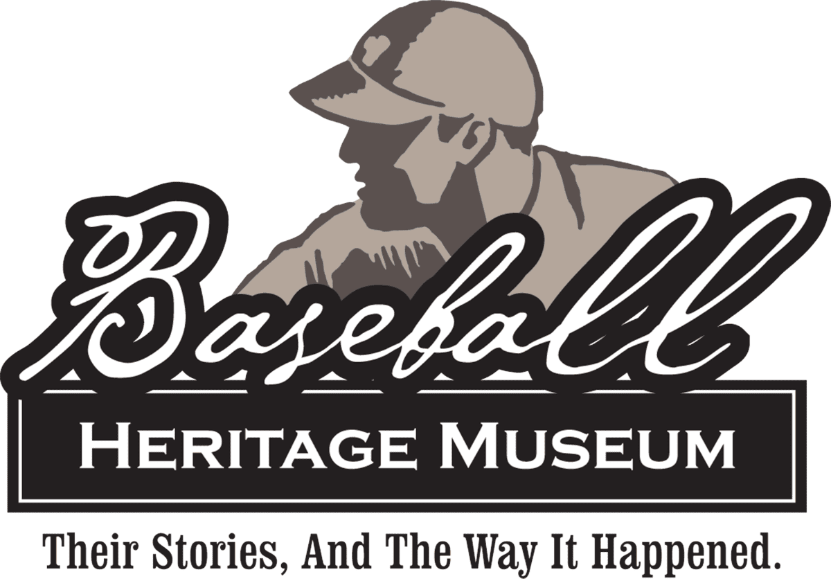 Logo for Baseball Heritage Musuem. The slogan is Their Stories, And the Way It Happened